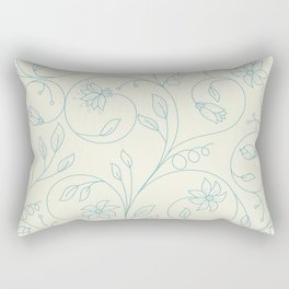 Floral tenderness. Cute floral pattern in pastel colors. Rectangular Pillow
