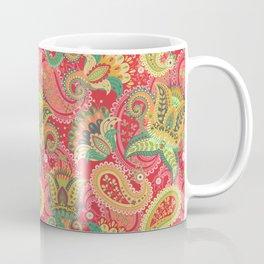 Boho Paisley Floral Pattern 4 Coffee Mug