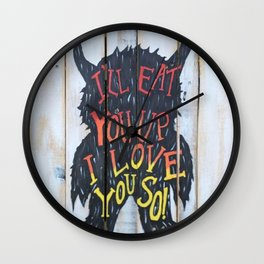 Eat You Up Wall Clock