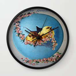 Easter Greetings 1909 Wall Clock