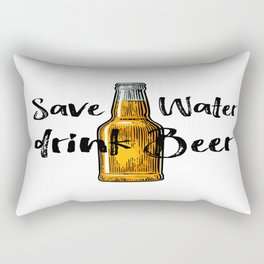 Save Water Drink Beer, Beer Poster, Beer Illustration, Home Decor, Gift For Friend Rectangular Pillow