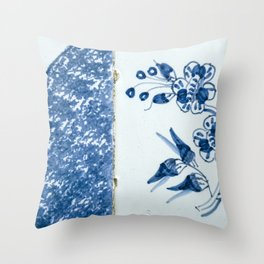 Old traditional Dutch blue Delftware tiles Throw Pillow