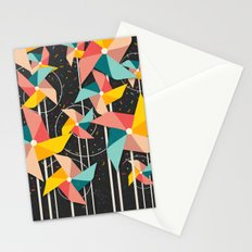 Colourful Pinwheels Stationery Cards