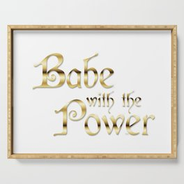Labyrinth Babe With The Power (white bg) Serving Tray