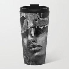 Empress Lion Skull Metal Travel Mug