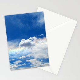 Clouds and rainbow Stationery Cards