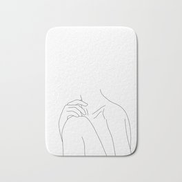 Woman's body line drawing illustration - Cathy Bath Mat