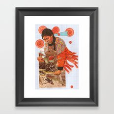 Sweat Saves blood Framed Art Print