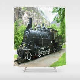 Old Number Six Shower Curtain