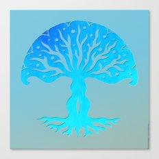 Tree of Life Woodcut Canvas Print