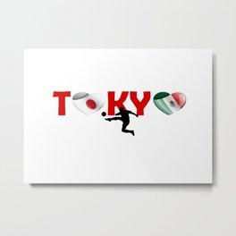 Football sport - Mexico team in Tokyo Metal Print