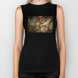 Sea Pebbles With Shells Biker Tank
