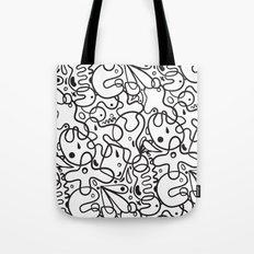 Black & White Blobs Tote Bag