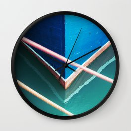 Blue Hull Wall Clock