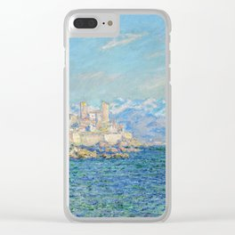 Claude Monet - Antibes Afternoon Effect Clear iPhone Case