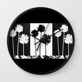 Palm Tree Pattern Wall Clock