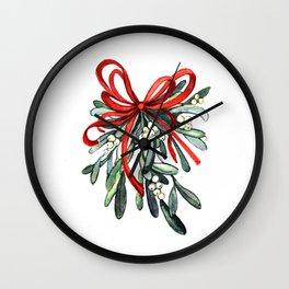 Branch of mistletoe Wall Clock