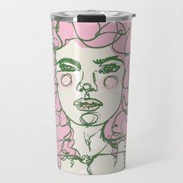 Pink Mermaid Curls Travel Mug