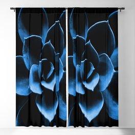 Dark Blue Succulent Plant #decor #society6 #homedecor Blackout Curtain