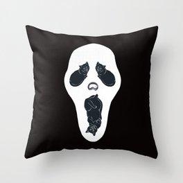 Screaming Cats Throw Pillow