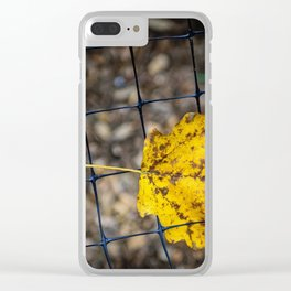 Caged Leaf Clear iPhone Case