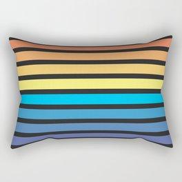 Stripe Sunset Rectangular Pillow