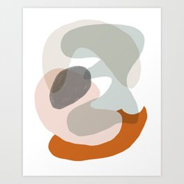 Shapes and Layers no.15 - soft neutral colors Art Print