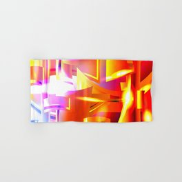 Golden Angelic Armor (Geometric Abstract Digital Art) #08 Hand & Bath Towel