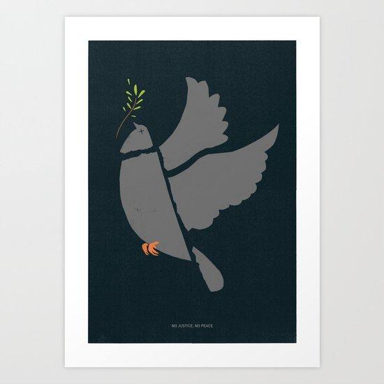 Broken Dove Art Print