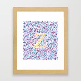 """Z"" Eye Test Full Framed Art Print"