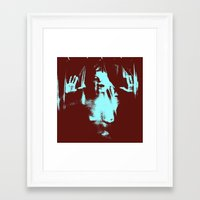psycho Framed Art Prints featuring Psycho by Groovyal