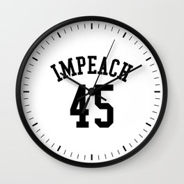 IMPEACH 45 Wall Clock