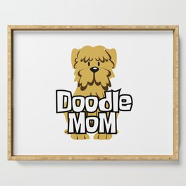 Female Goldendoodle Gift Womens Cute Golden Doodle Mom Print Serving Tray