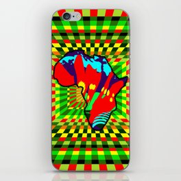 Colorful African Checkered Abstract Print iPhone Skin