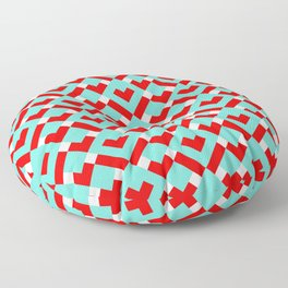 Graphic Hearts Pattern (Christmas Candy Color Palette) Floor Pillow