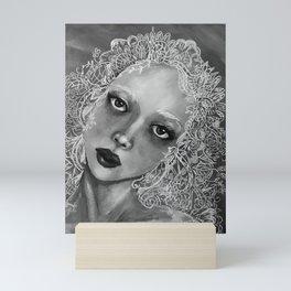 Ada (Gray) Mini Art Print