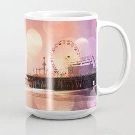 Sparkling pink Santa Monica Pier Coffee Mug