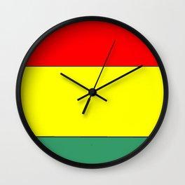 flag of bolivia 3 -bolivian,boliviano,bolivian,Sucre, La Paz. Wall Clock