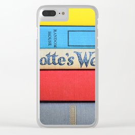 Charlotte's Web - Vintage Book Stack Clear iPhone Case