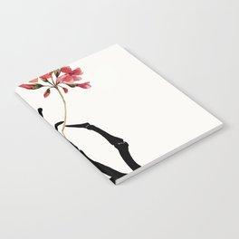 Skeleton Hand with Flower Notebook