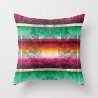 mexico Throw Pillows featuring Mexico by Joanna Tadger