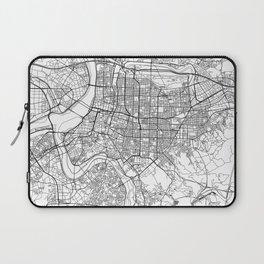 Taipei White Map Laptop Sleeve