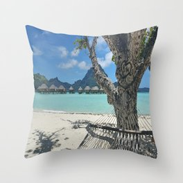 Bora Bora Hammock Throw Pillow