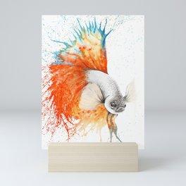 Orange Splice Gourami Mini Art Print