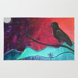 """Manifest"" Original painting by Carly Mojica Rug"