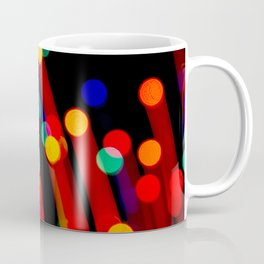 Bokeh Christmas Lights With Light Trails Coffee Mug