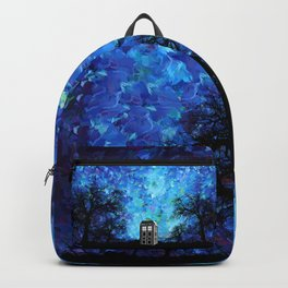 Lonely Tardis Doctor who Art painting Backpack