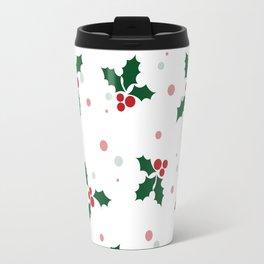 Holly tree pattern Travel Mug