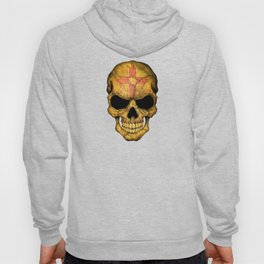 Dark Skull with Flag of New Mexico Hoody