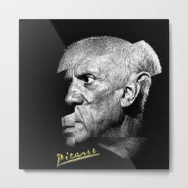 Pablo Picasso Cubism Collage Metal Print